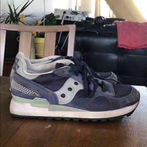 Saucony originals men's shadow sneaker, navy/grey